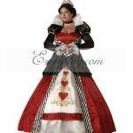 EAW0011 Alice in Wonderland Queen of Hearts Cosplay Costume - Alice in Wonderland