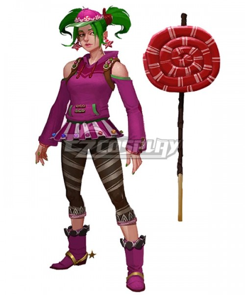 ECW1658 Fortnite Battle Royale Zoey Lollipop Pickaxes Cosplay Weapon Prop -  Fortnite Battle Royale