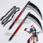 ECW1369 Guilty Gear Xrd Axl Low Two Scythes Cosplay Weapon Prop - Guilty Gear Xrd