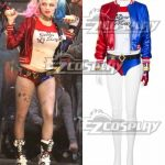 EDCG010 DC Comics New Batman Suicide Squad Harley Quinn Cosplay Costume Outfit - A Edition - D.C