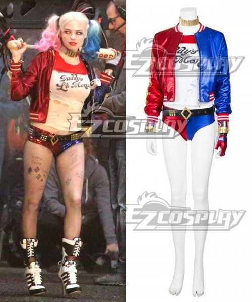 High Quality Batman DC Comics Suicide Squad Harley Quinn Cosplay Boots Costume@