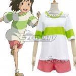 ESAY006 Hayao Miyazaki Sen to Chihiro no Kamikakushi Spirited Away Ogino Chihiro Cosplay Costume - Hayao Miyazaki Movie