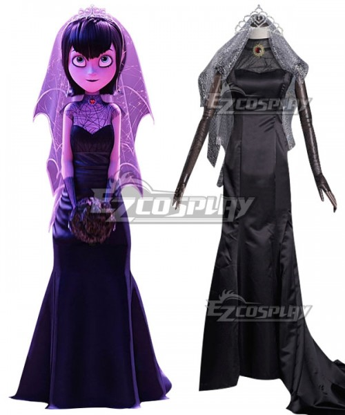 Ecm0729 Hotel Transylvania Mavis Dracula Halloween Wedding Dress