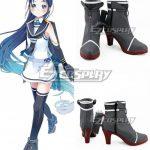 COSS1649 Kantai Collection Samidare Black Cosplay Shoes - Kantai Collection