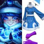 LOL0055 League of Legends Winter Wonderland Lulu Christmas Blue Dress Cosplay Costume - Christmas Costume