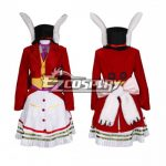 NAEZ078 Alice: Madness Returns Alice Lucky Rabbit Red Cosplay Costume - Alice: Madness Returns