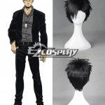 ZBW0612 Gangsta Gyangusuta Nicolas Brown Nic Short Black Cosplay Wig - 386A - Gangsta