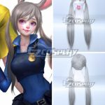 ZBW0682 Disney Zootopia Officer Judy Hopps Silver white Cosplay Wig 410C - Disney